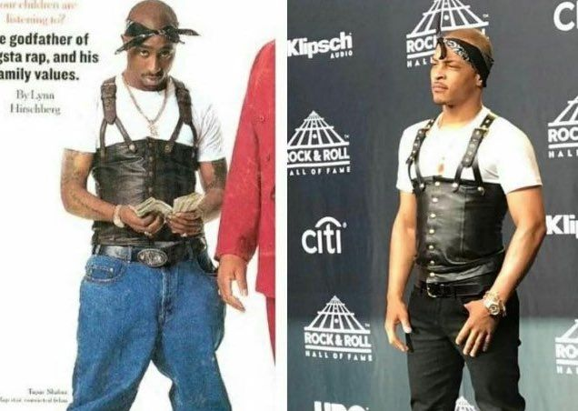 "The Internet Vs. TIPac The whole ""T.I. pay homage to Pac by dressing like Pac"" idea probably seemed like a great idea until it overshadowed Pac's induction into the Rock & Rol…"