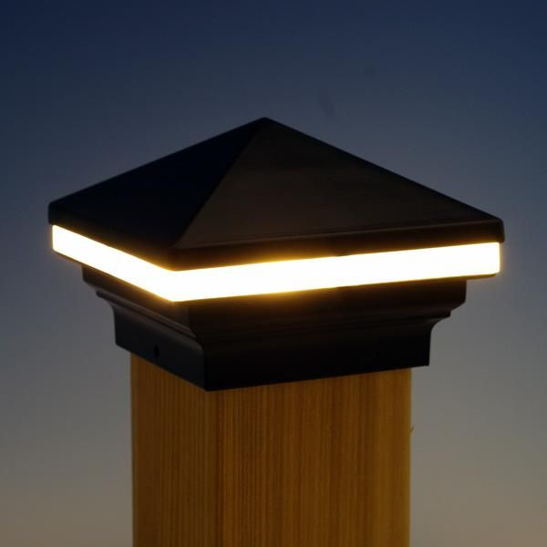 Pin On Deck Ideas Low voltage fence post lights