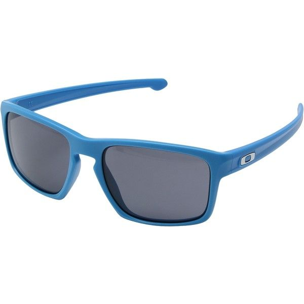 535a1a60a05 Oakley Sliver (Matte Sky Blue Grey) Sport Sunglasses (255 BRL) ❤ liked on  Polyvore featuring men s fashion