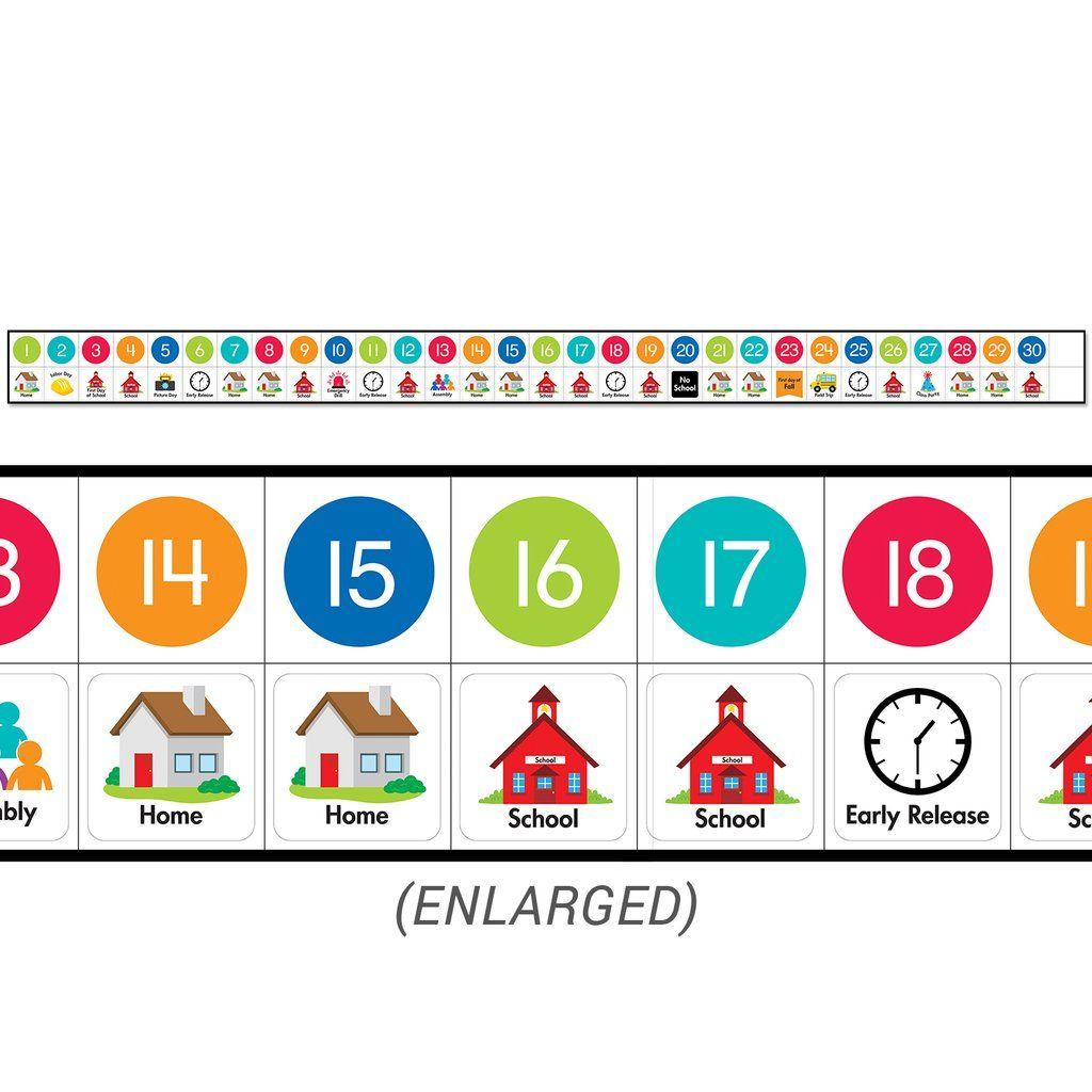 Linear Calendar Set Bulletin Board In