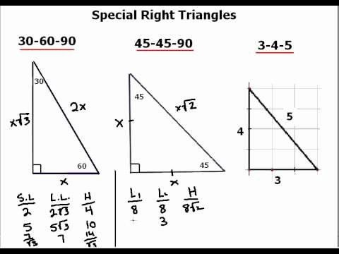 Special Right Triangles Practice Worksheet Beautiful ...