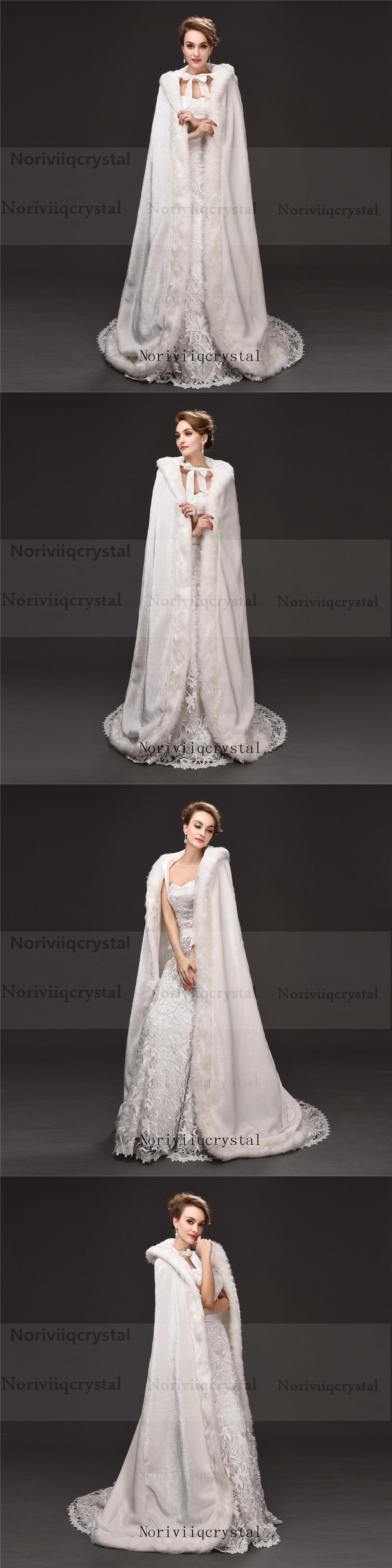 Fur wedding dress  Wraps and Jackets  Faux Fur Long Wedding Cape Warm Women