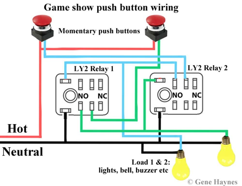 Game show push on wiring | DIY water heater | ons ... Game Switch Wiring Diagram on