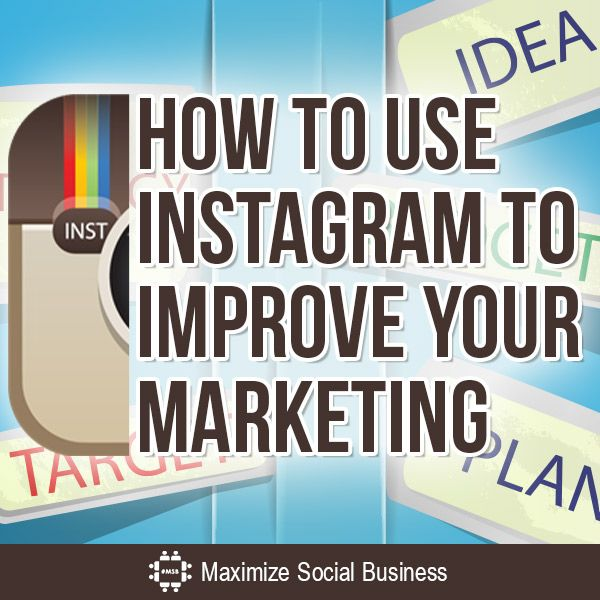 How To Use #Instagram to Improve Your Marketing - Many people think of Instagram as a silo – its own platform, unrelated to everything else you do. But there are many Instagram features and tools that you can take advantage of to improve your whole marketing strategy. If you're only using Instagram to share photos on Instagram, you're missing out on many more opportunities to market your brand | via #BornToBeSocial - Pinterest Marketing