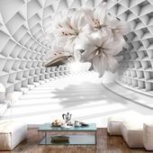 3D wallpaper flowers in the tunnel #design #designer #designs #designlife #gardening ...#design #designer #designlife #designs #flowers #gardening #tunnel #wallpaper