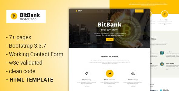 BitBank - Crypto currency Template Pinterest Template - business finance spreadsheet template
