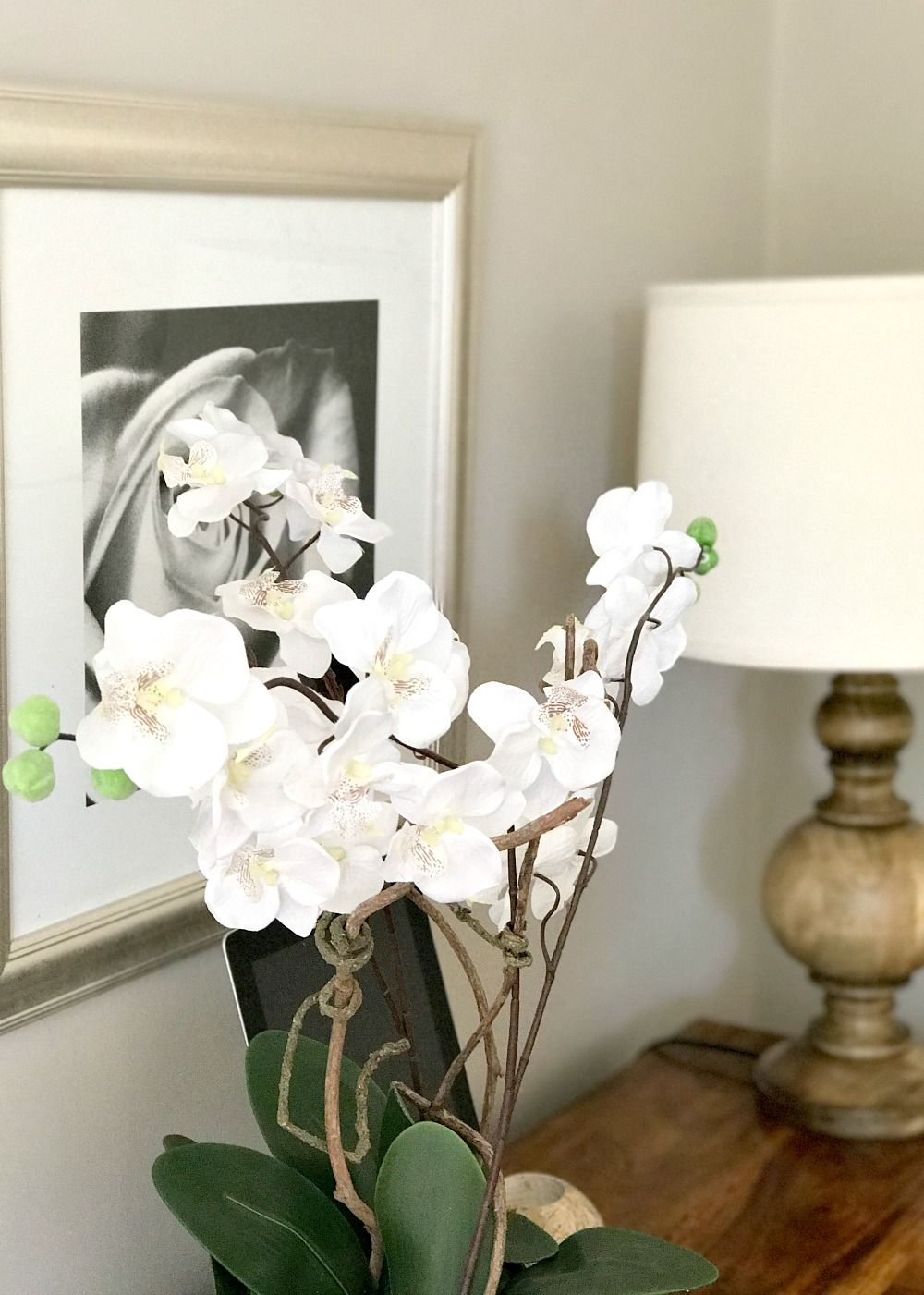 Fake / Artificlal orchid in lounge