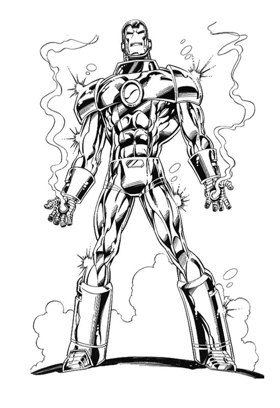 Iron Man Anggry Coloring Page | Avengers coloring ...