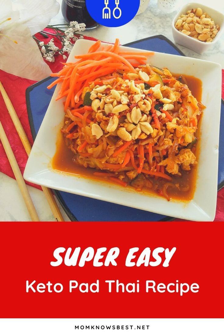 Keto friendly pad thai with malaysia palm oil recipe