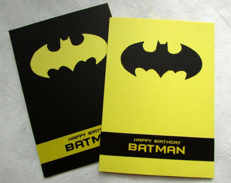 Batman Birthday Card Quot Happy Birthday Batman Quot Handmade Birthday Card For Ki Birthday Card Template Kids Birthday Cards Happy Birthday Cards Handmade