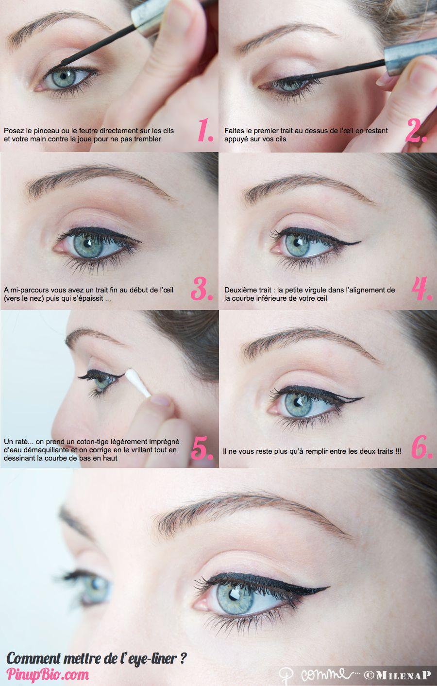 Très tutoriel #eyeliner #pinup PinUp Bio ! | Pin-up Bio | Pinterest  CE31