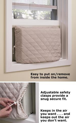twin draft guard indoor air conditioner cover - Air Conditioner Covers