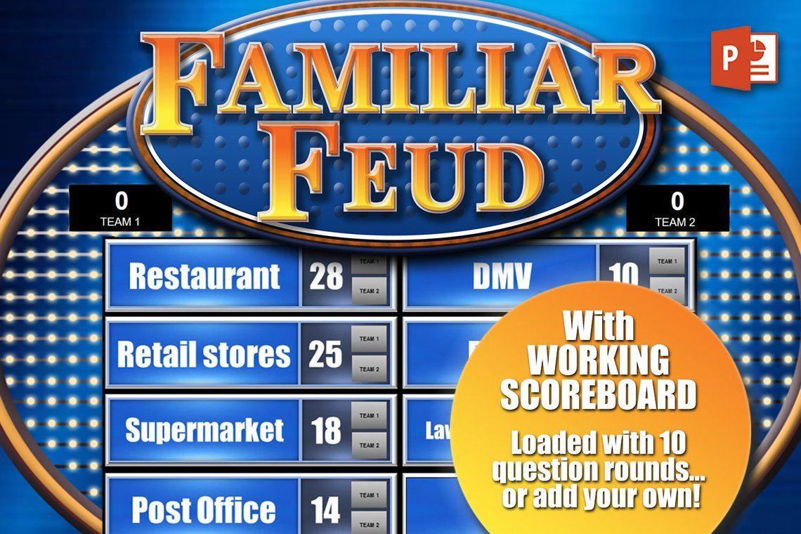 Family Feud Game W Working Scoreboard Pc Mac Ipad And Etsy