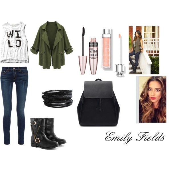 Emily Fields by shamelessly-chic-13 on Polyvore featuring mode, Abercrombie & Fitch, rag & bone, Zara, Pieces, Maybelline and PrettyLittleLiars