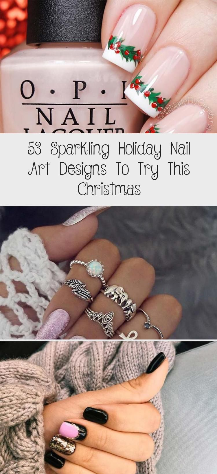 Photo of 53 Sparkling Holiday Nail Art Designs To Try This Christmas – Nail Art