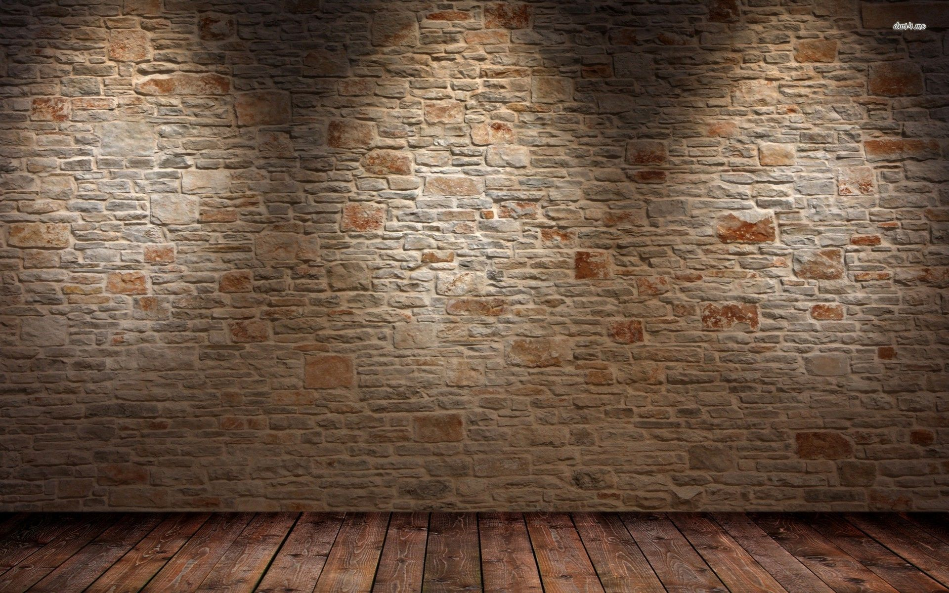 Brick wall and wood floor hd wallpaper 1 abstract for Floor 3d wallpaper