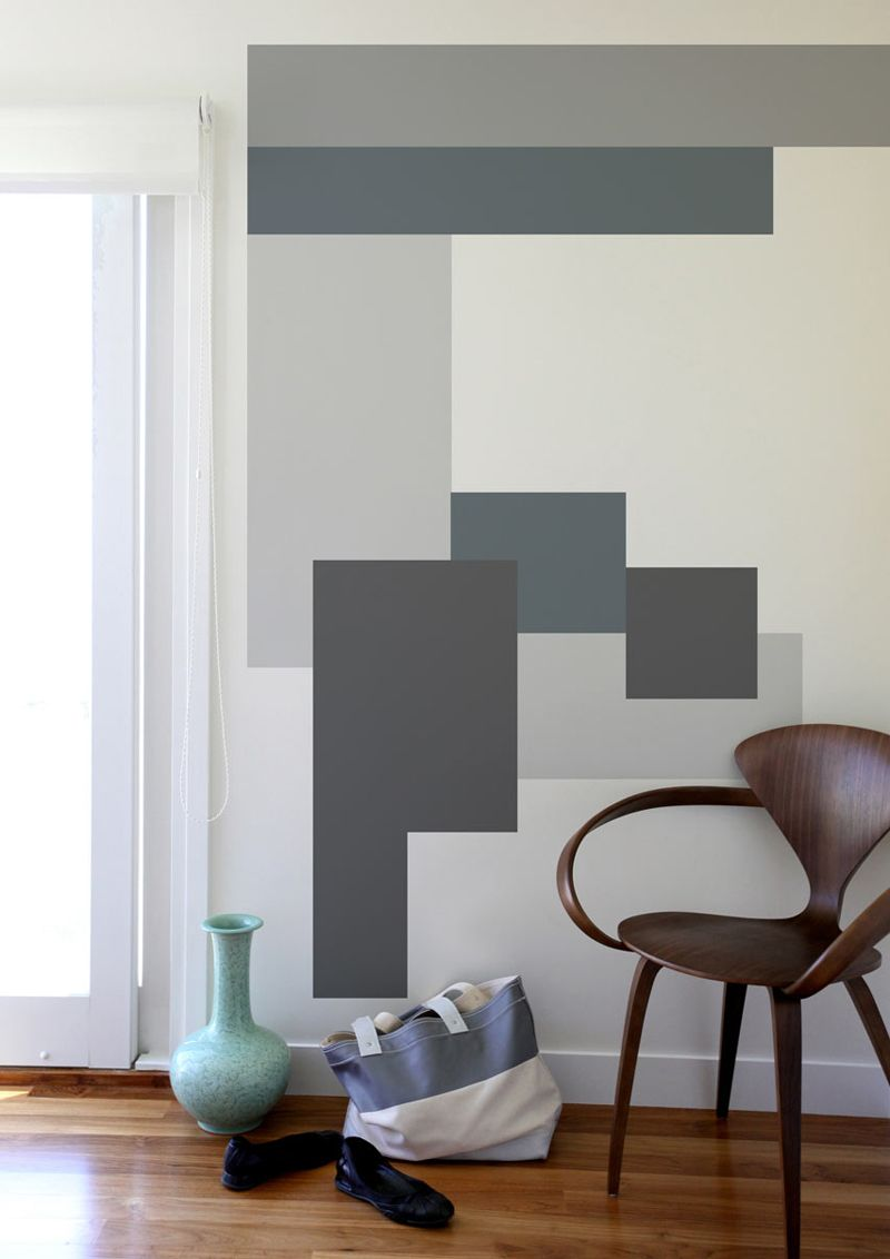Geometria per decorare decorazioni pittura pareti - Decorazioni su pareti ...