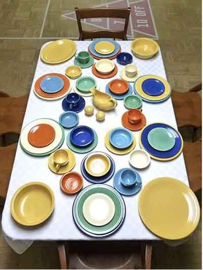 Fiestaware Table Settings. Gold Table Setting. Homer. Find This Pin ...