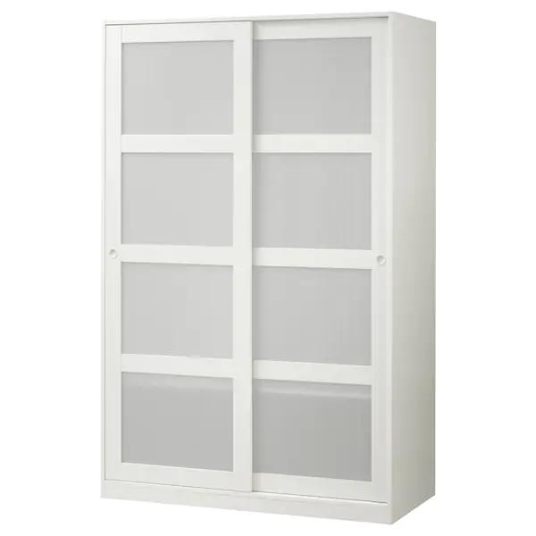 Armadio A Due Ante Ikea.Kvikne White Wardrobe With 2 Sliding Doors 120x190 Cm Ikea Ikea Shelves Sliding Doors