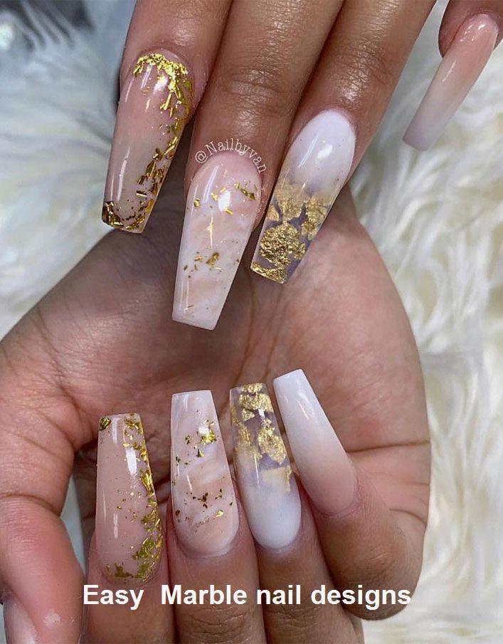 25 Diseño de uñas de mármol con agua y esmalte de uñas 2