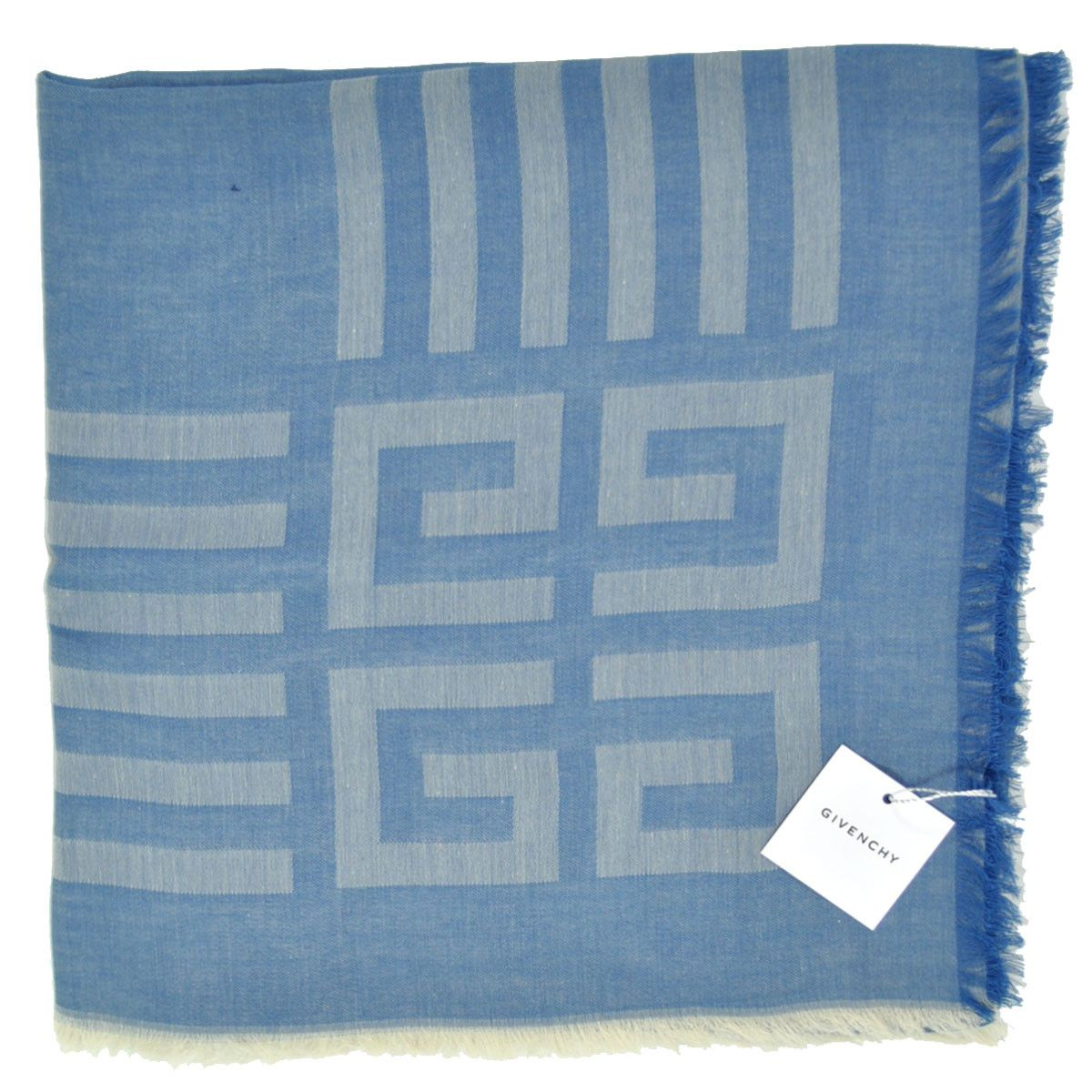 NEW Givenchy Scarf Blue Logo Design, Extra Large Square