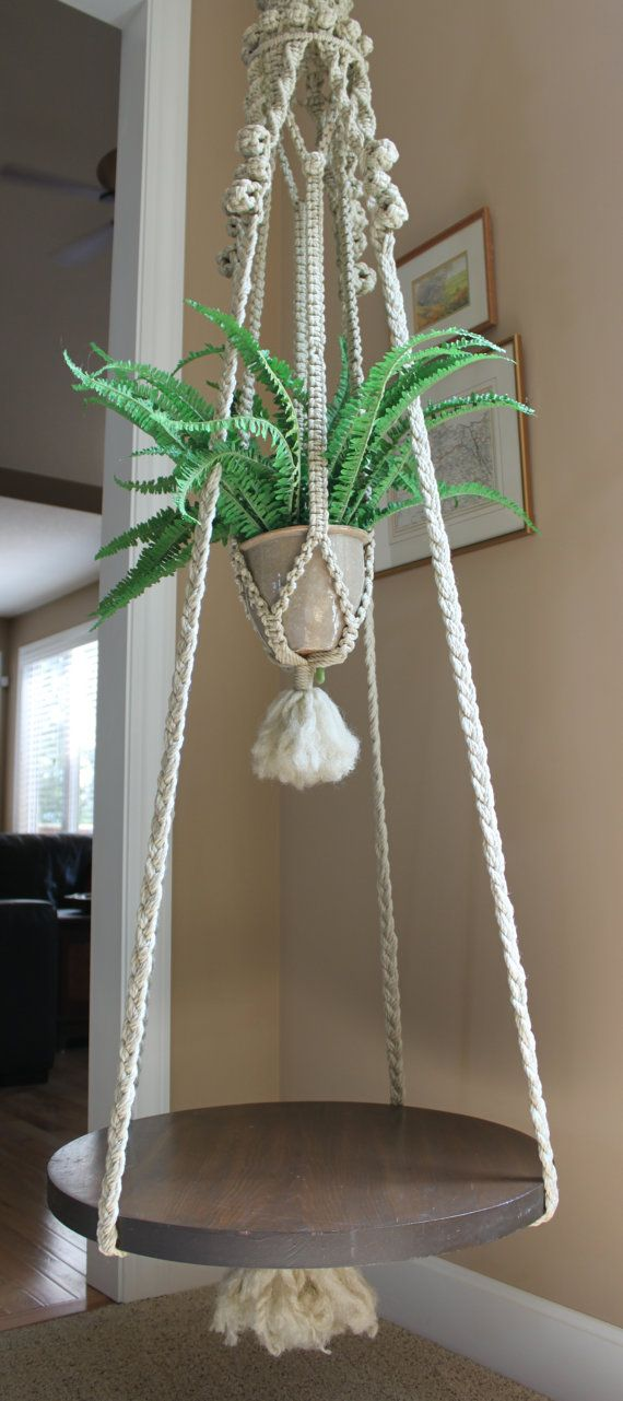 Fabulous handmade hanging macrame plant holder by