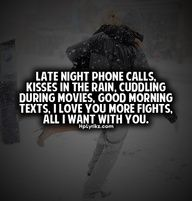 Late Night Phone Calls Kisses In The Rain Cuddling During Movies