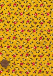 Ahhhhh...40s/50s yellow and red small floral