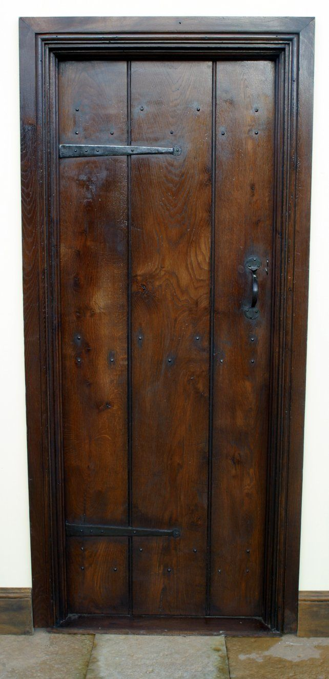 period planked door with door lining and architrave | Interior Barn ...