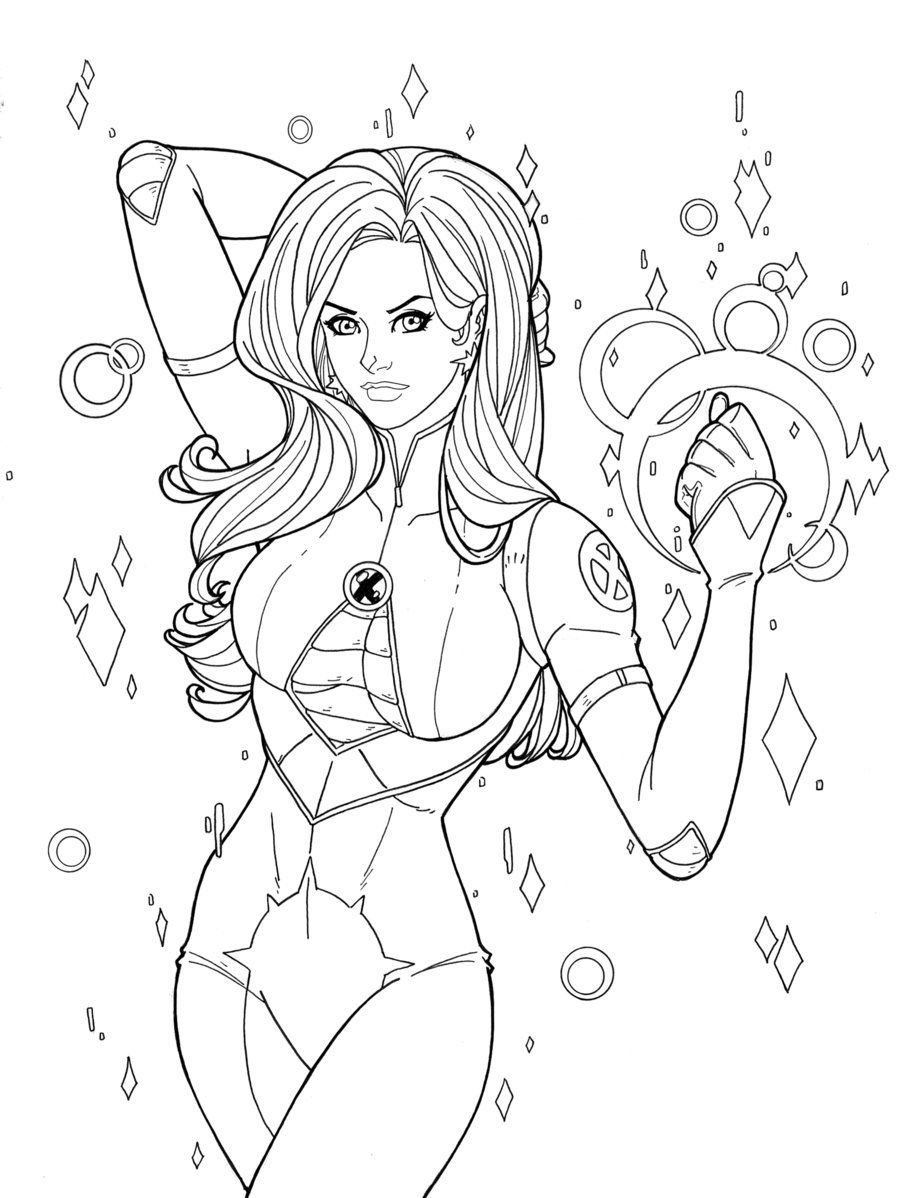 Dazzler X Men Comic Colouring Page Superhero Coloring Coloring Pages Coloring Books