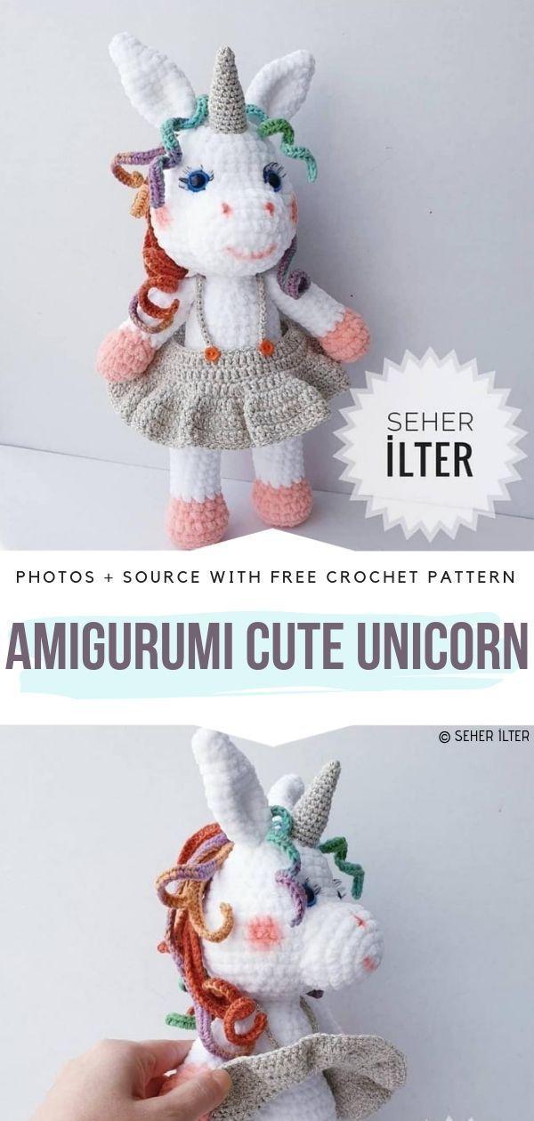 Amigurumi Yagi Unicorn Free Pattern for lexa | Einhorn häkeln ... | 1260x600