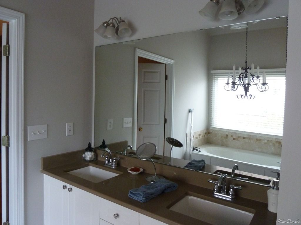 Diy framed mirror using standard moldings frame bathroom mirrors bathroom mirrors and frames Frames for bathroom wall mirrors