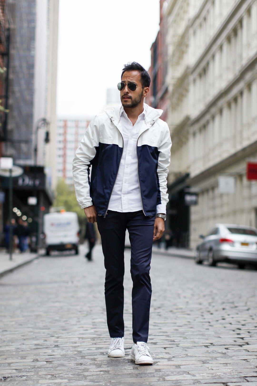 2017-01-02のファッションスナップ。着用アイテム・キーワードはサングラス, シャツ, スニーカー, チノパン, ブルゾン,etc. 理想の着こなし・コーディネートがきっとここに。| No:185791