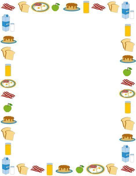 Food frame   Frames and borders   Food border, Page ...