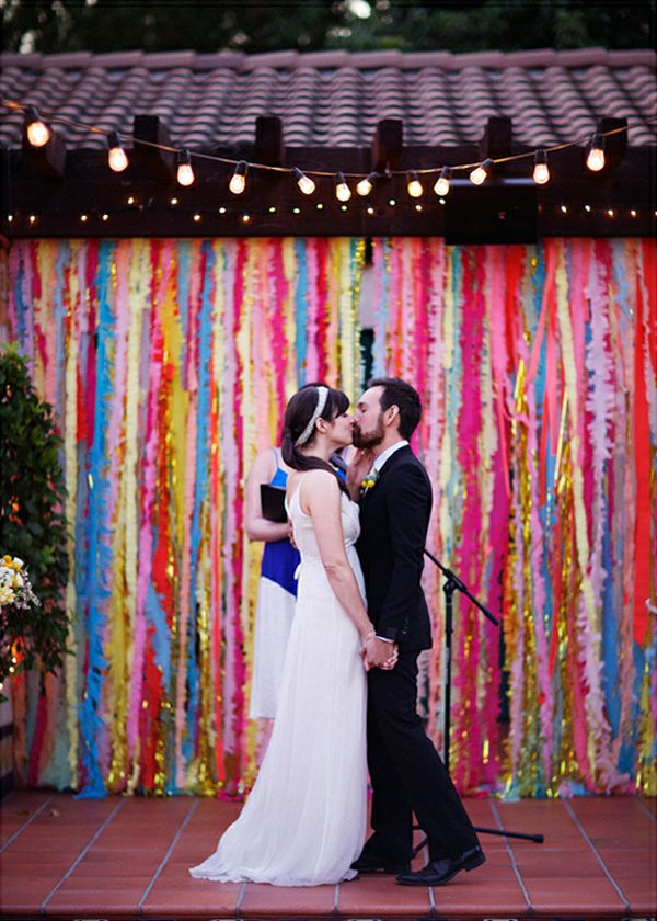 Wedding ceremony ideas - handmade backdrops