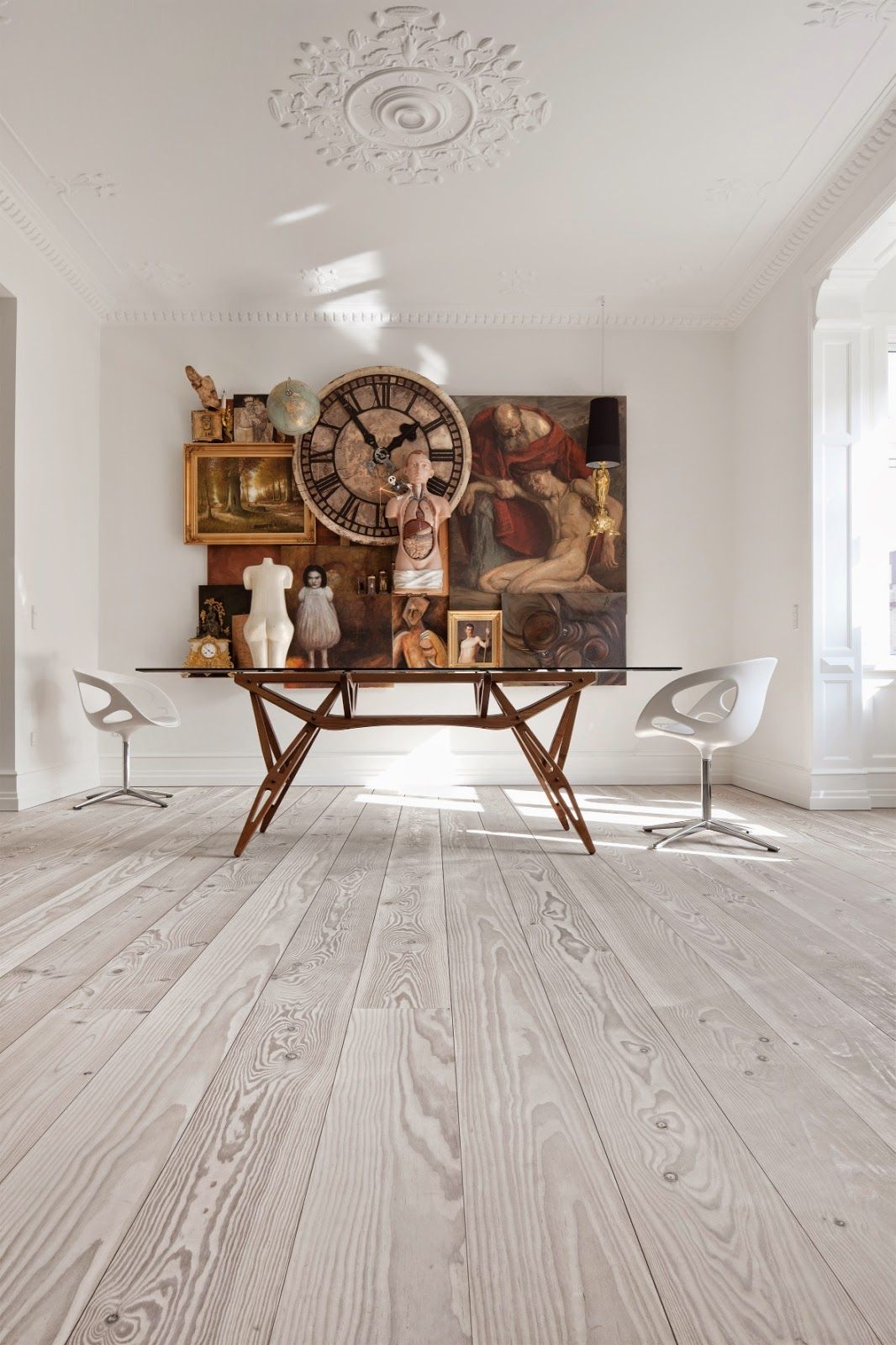 painted wood plank floors - Google Search | Cream City Brick Ideas ...