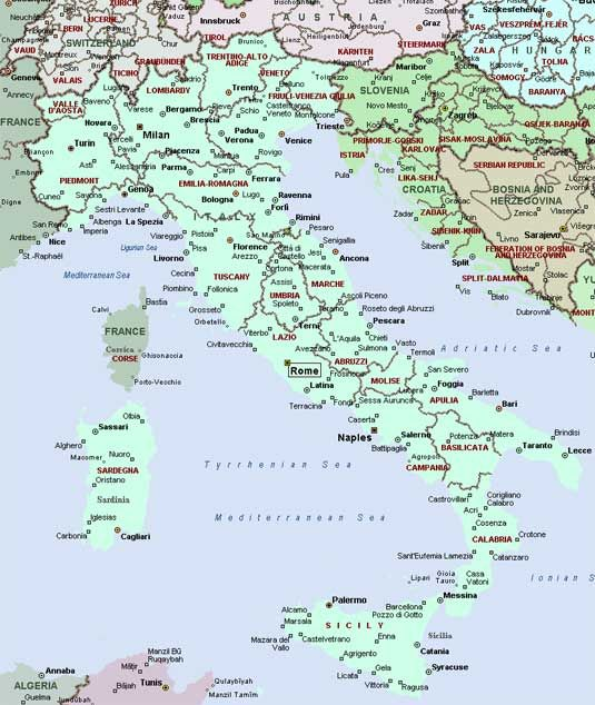 Map Of Italy With All Cities And Towns.Map Of Italy With Cities And Towns Map Of Italy Regions Italy