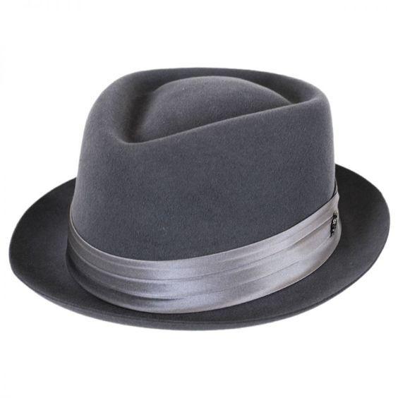 ba348ef32c789 Myers Wool Felt Diamond Crown Fedora Hat Diamond Crown