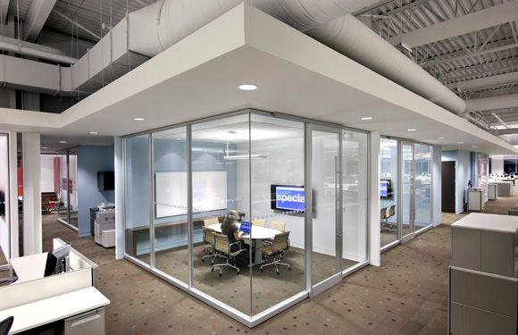 Glass Conference Room Office Walls Open Office Design Office