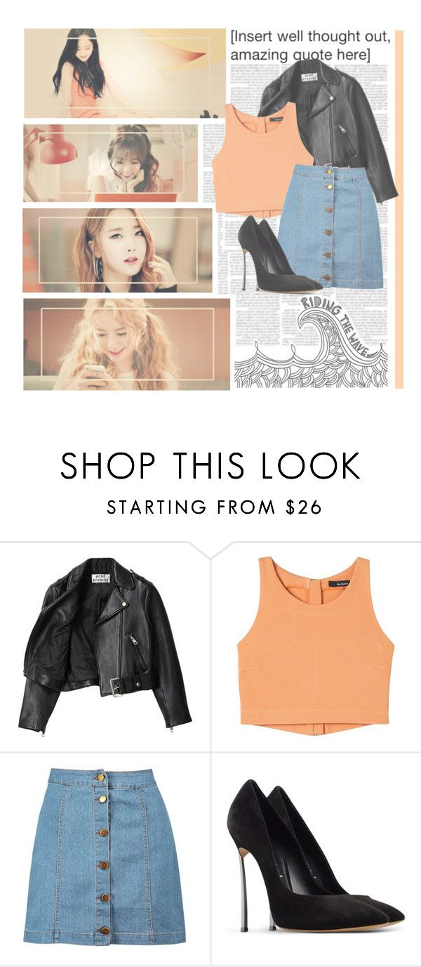 """Someone Like U--- Dal*Shabet"" by alicejean123 ❤ liked on Polyvore featuring Acne Studios, Boohoo and Casadei"