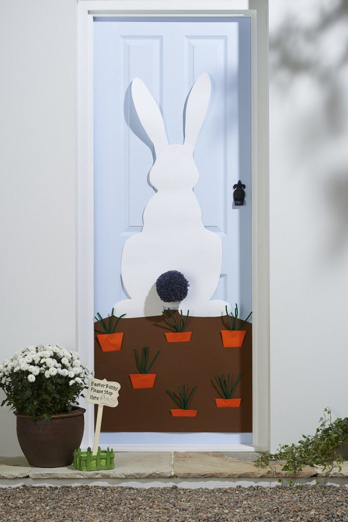 DIY Easter Door Decorations | Front doors, Decorating and Doors
