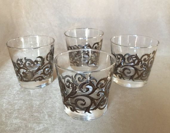 Great 60u0027s Whiskey Glasses Libbey Rock Sharpe Grey And By DotnBettys