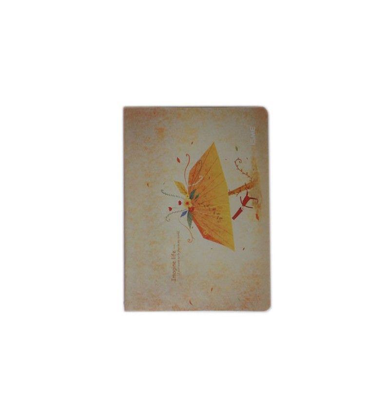 Cuaderno paraguas amarillo
