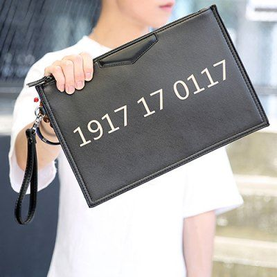 #Casual number and black design clutches for Instock  ad Euro 16.19 in #Black #Bagsshoes mens bags