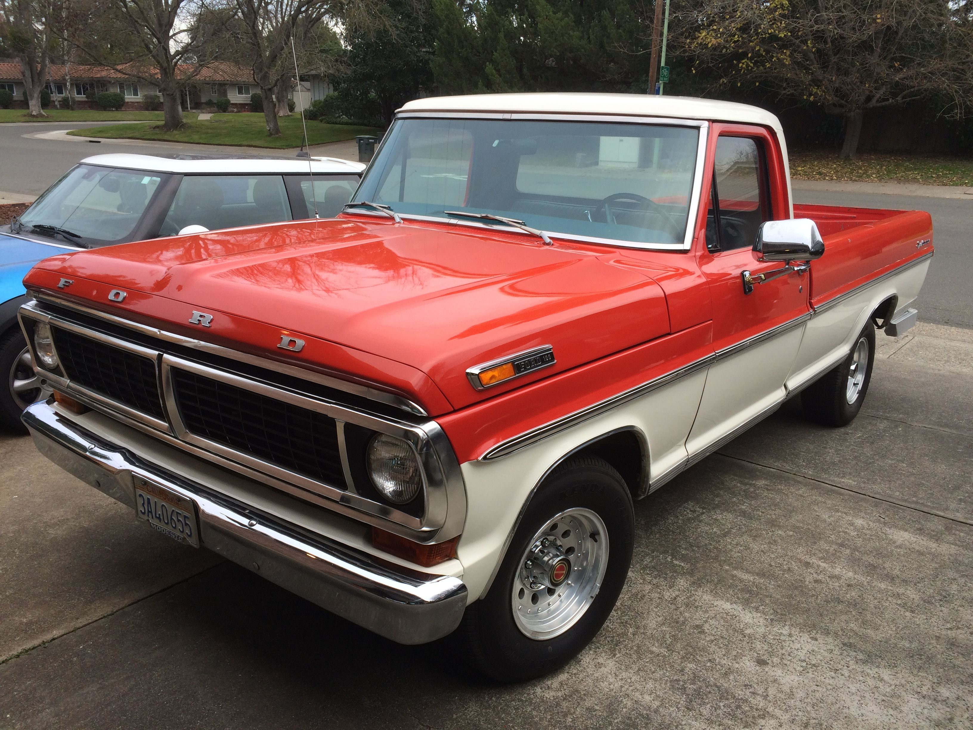 1970 Ford F100 Sport Custom Long Bed Ford Pickup Trucks Ford Trucks Ford Pickup