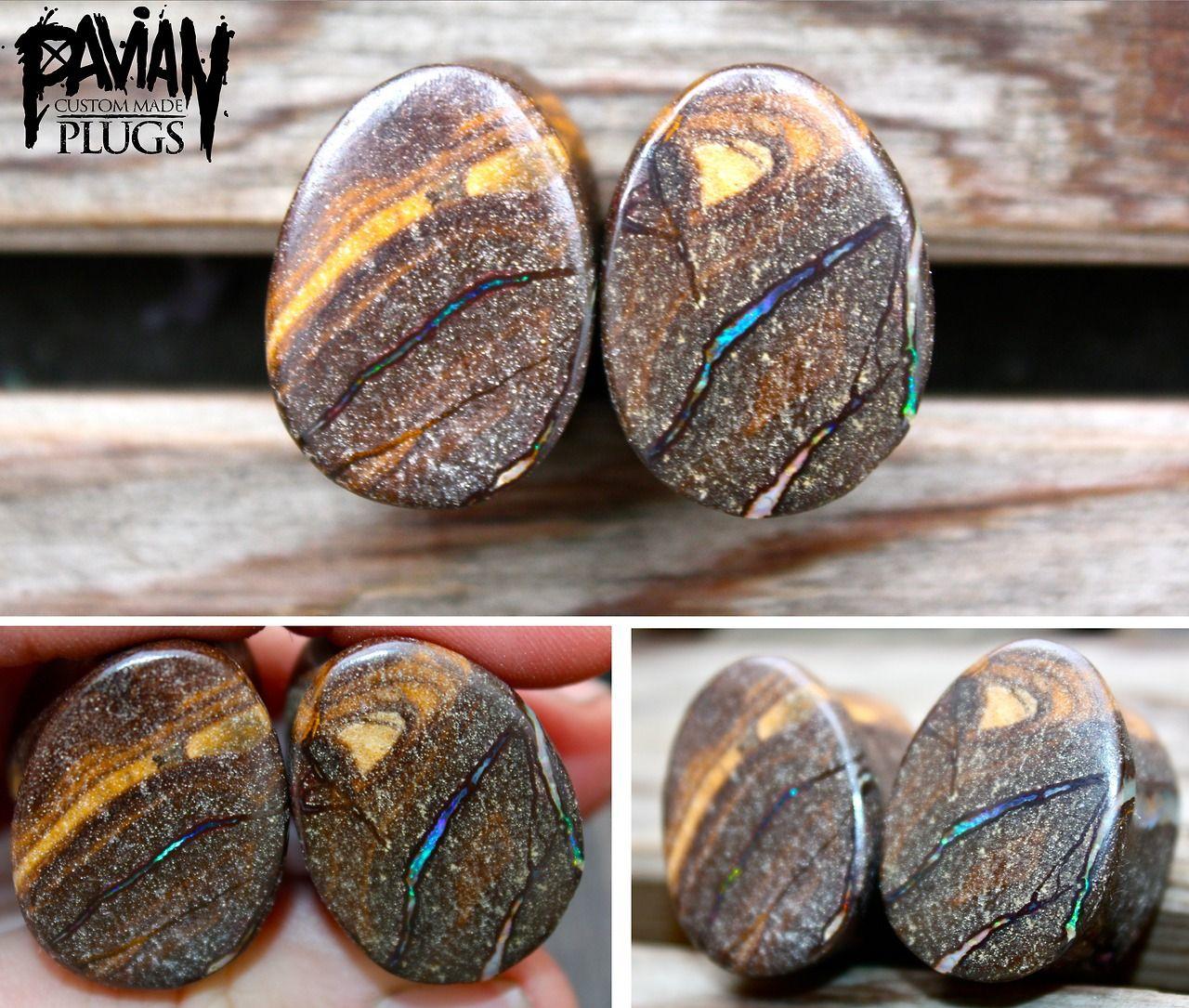 pavianplugsorganics: 20mm boulder opal teardrop plugs ...