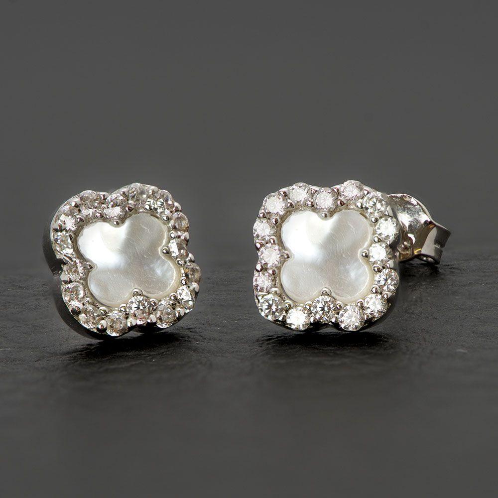 Λευκόχρυσα σκουλαρίκια Κ14 aee734a07b1