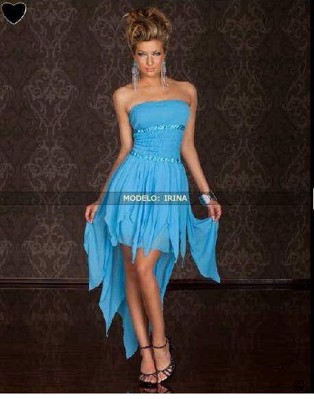 Vestidos cortos en azul turquesa