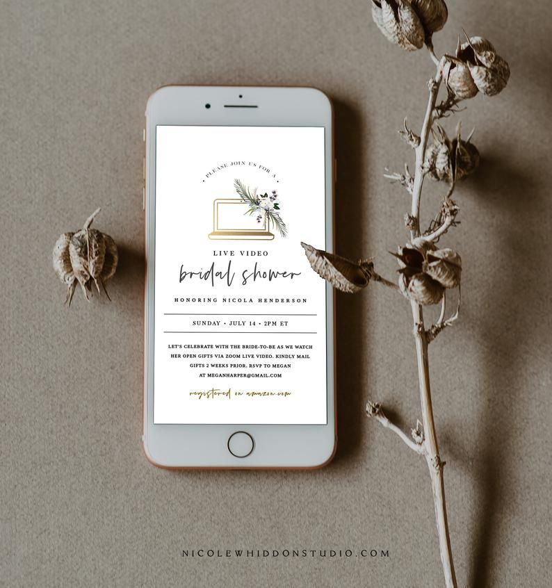 Long distance bridal shower invitation registry card