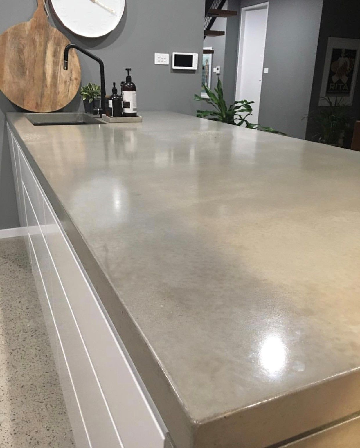 Azure Interior S Stunning Home With Concrete Benchtop Concrete